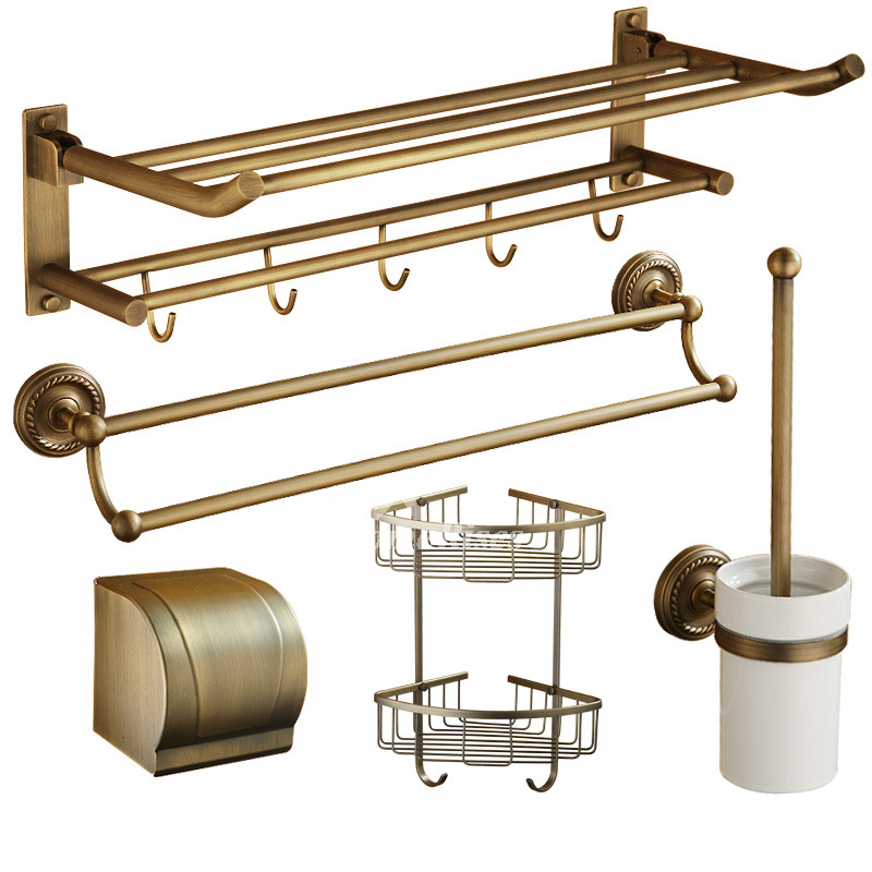 Exquisite 6 Piecce Modern Bathroom Hardware Sets Wall