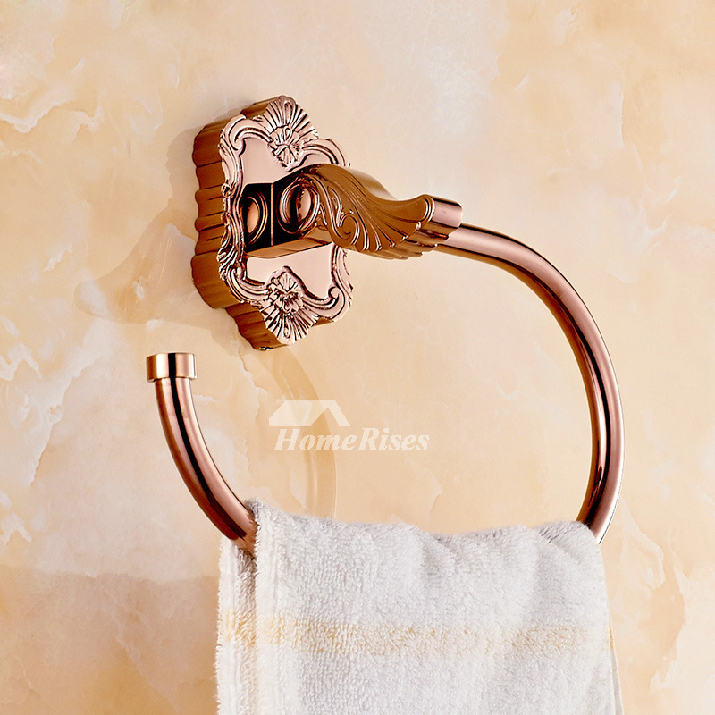 Pictures Show Hand Towel Holder Carved Rose Gold