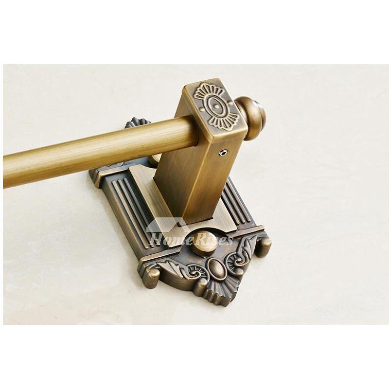 Bathroom door handles brass