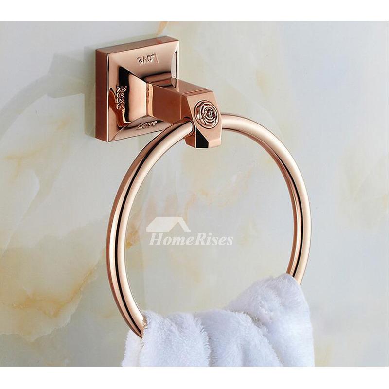 Chrome Towel Rings Silver Wall Mount Bathroom