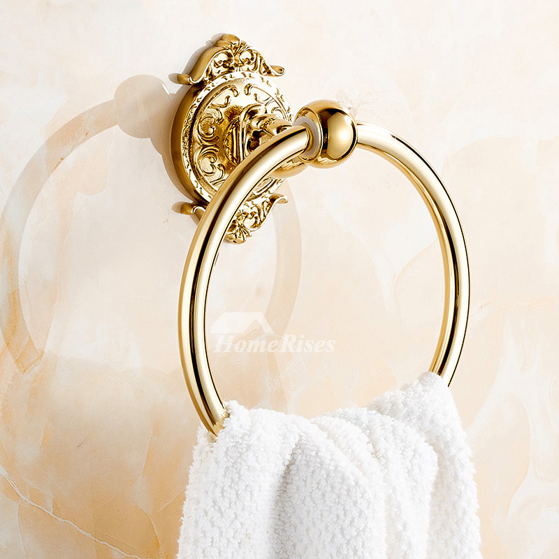 Unique Towel Rings Alloy Wall Mount Chrome Polished Brass Copper Painting