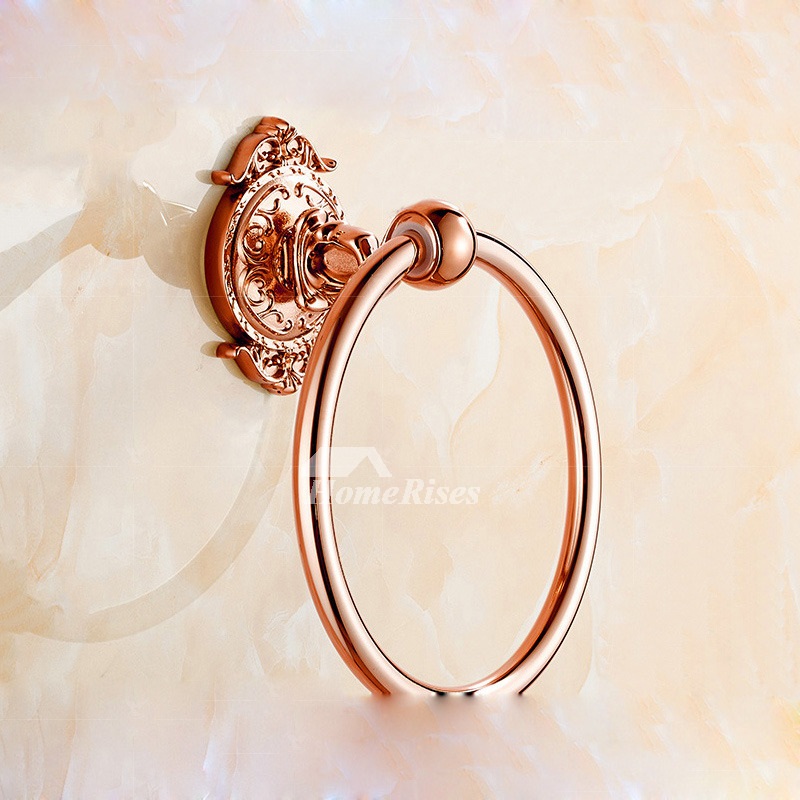 Unique Towel Rings Alloy Wall Mount Chrome/Polished Brass/Copper/Painting