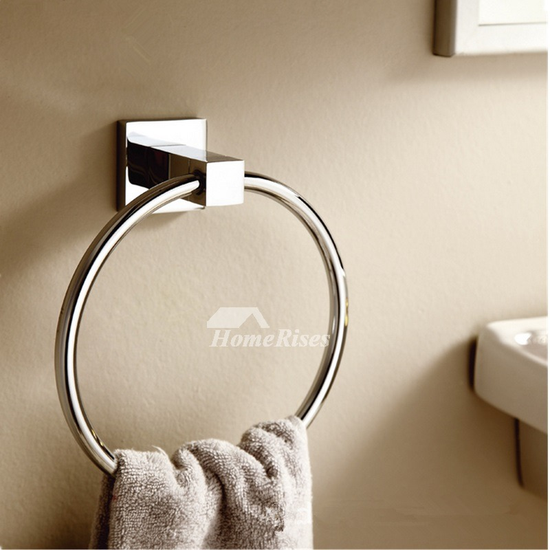 Chrome towel ring round shaped brass bathroom - Chrome and brass bathroom accessories ...