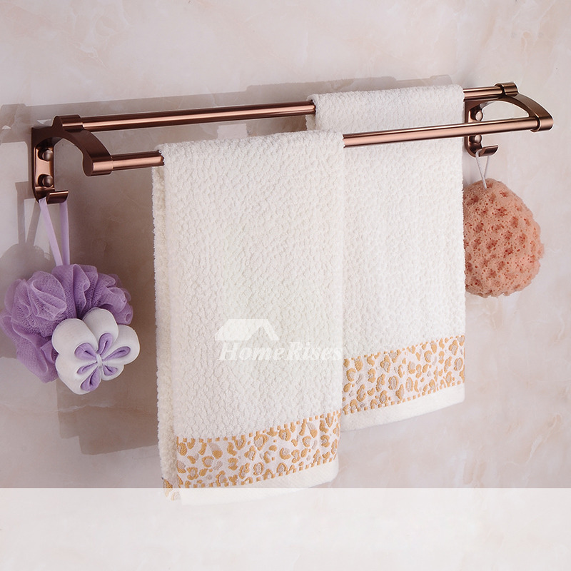Rose Gold Aluminum Copper Bathroom Accessories Set