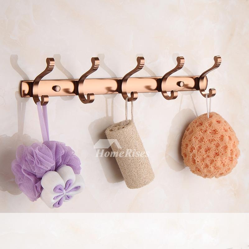 Rose gold aluminum copper bathroom accessories set for Gold bathroom accessories sets