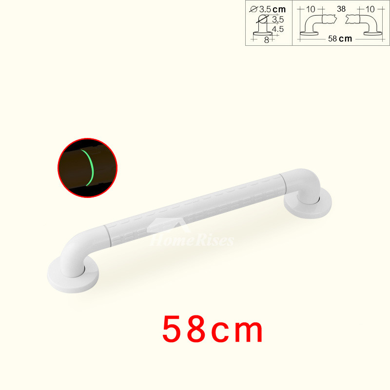 White Grab Bars For Showers Wall Mount Stainless Steel