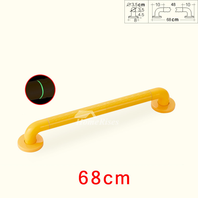 Yellow Wall Mount Grab Bars For Showers