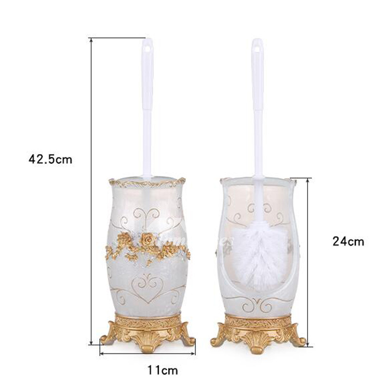 Vintage Resin ABS Plastic Toilet Brushes And Holders