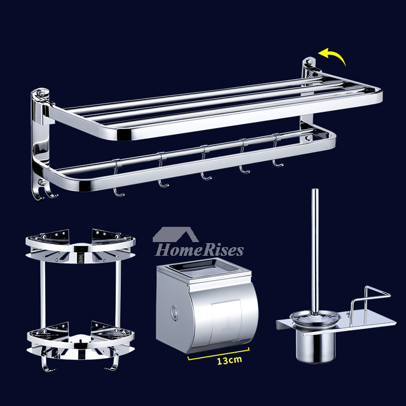Stainless Bathroom Accessories Wall Mount Folding
