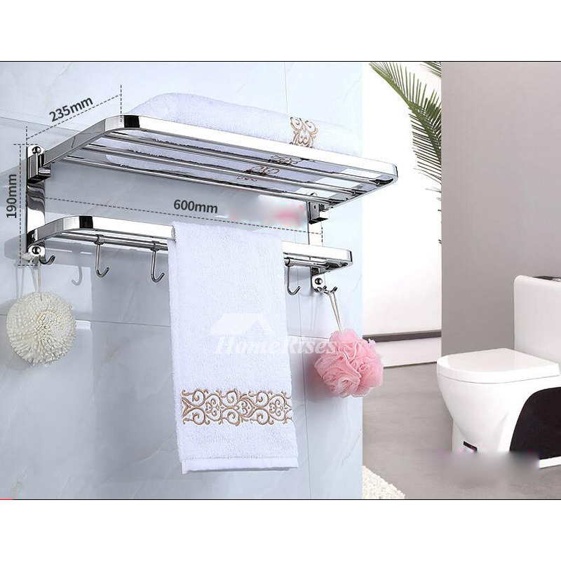 Chrome Bathroom Accessories Set Silver Stainless Steel
