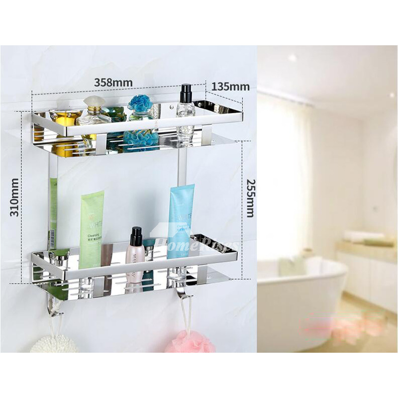 Chrome Bathroom Accessories Set Silver