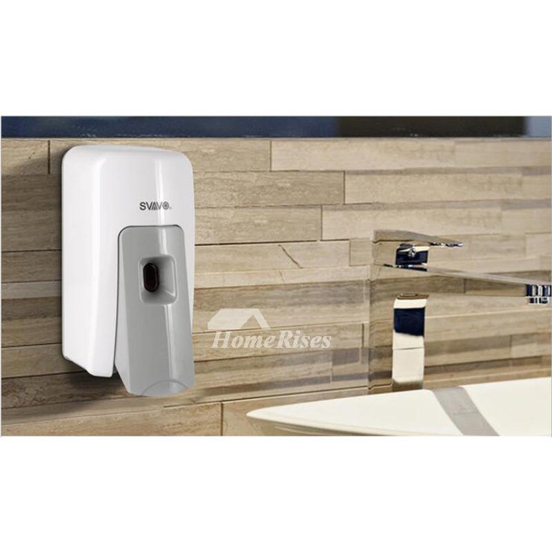 600ml Wall Mount No Drill Abs Resin Foaming Soap Dispenser Pump