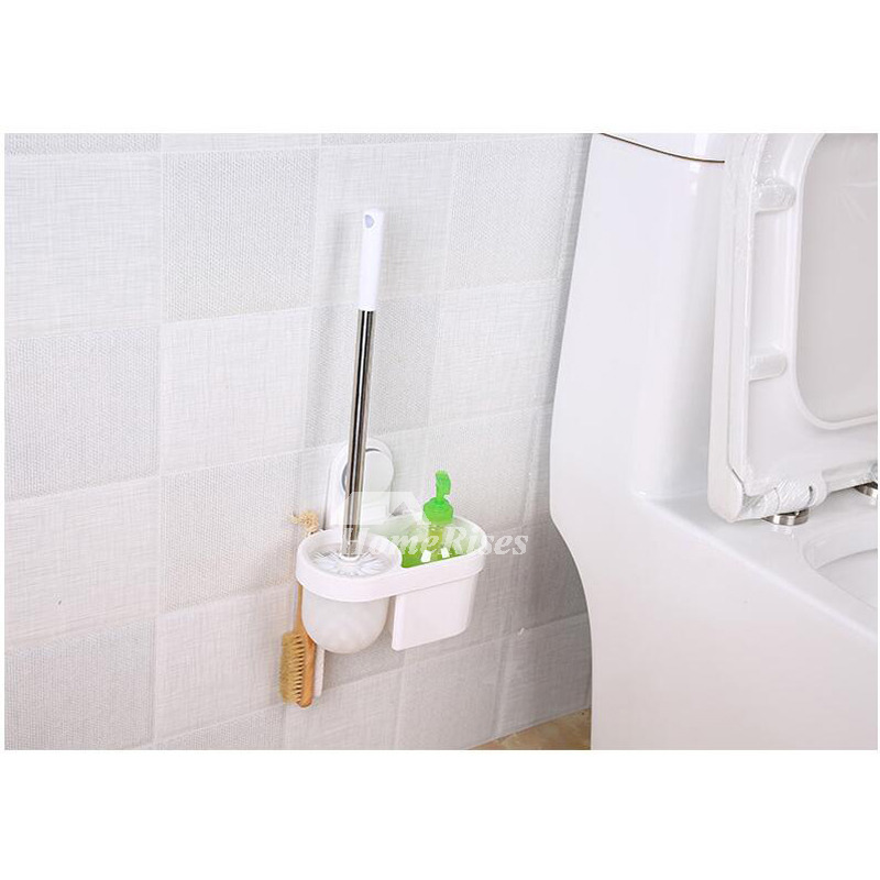 Simple Toilet Bowl Brush Holder Bathroom Suction Cup