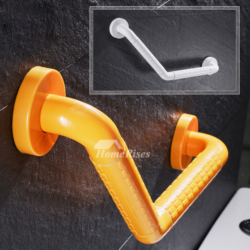 Grab Bars Wall Mount Stainless Steel Yellow