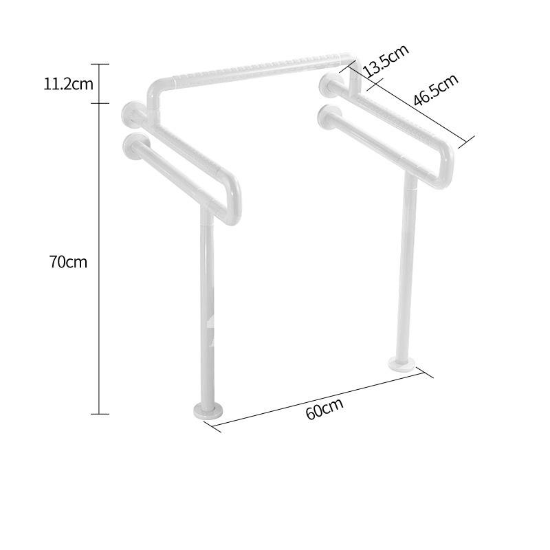 Toilet Grab Bars Floor Mounted Stainless Steel