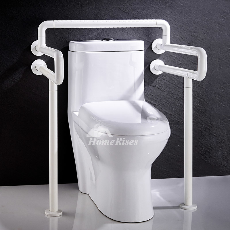 Bathroom Grab Bars >> Handicap Toilet Grab Bars Floor Mounted Stainless Steel