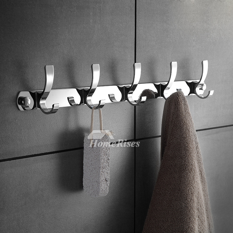 Silver Bathroom Accessories Sets Stainless Steel Wall Mount