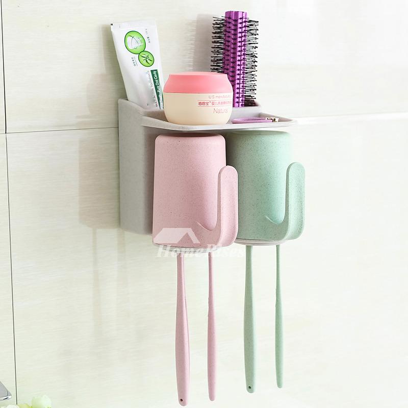 environmental suction cup toothbrush holder fiber hanging. Black Bedroom Furniture Sets. Home Design Ideas