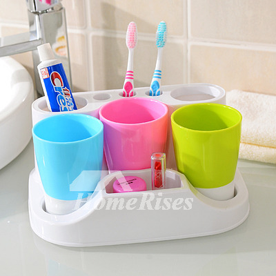 Designer Free Standing ABS Plastic Toothbrush Holder Stand