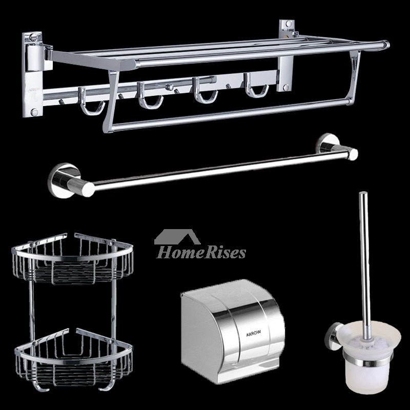 silver bathroom accessories set stainless steel. Black Bedroom Furniture Sets. Home Design Ideas