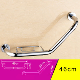 Quality Black Grab Bars Wall Mount Bend Shaped Bathroom