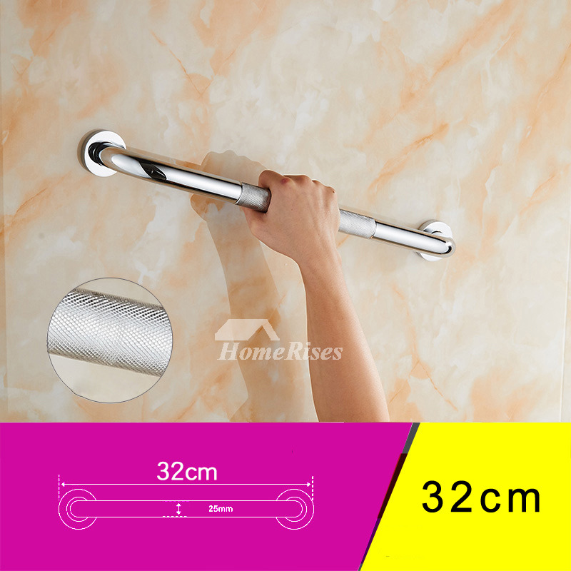 Smooth Rose Gold Shower Grab Bars Bathroom Wall Mount