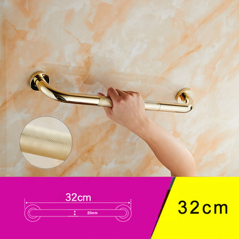 Brass Grab Bars Polished Brass/Rose Gold Wall Mount