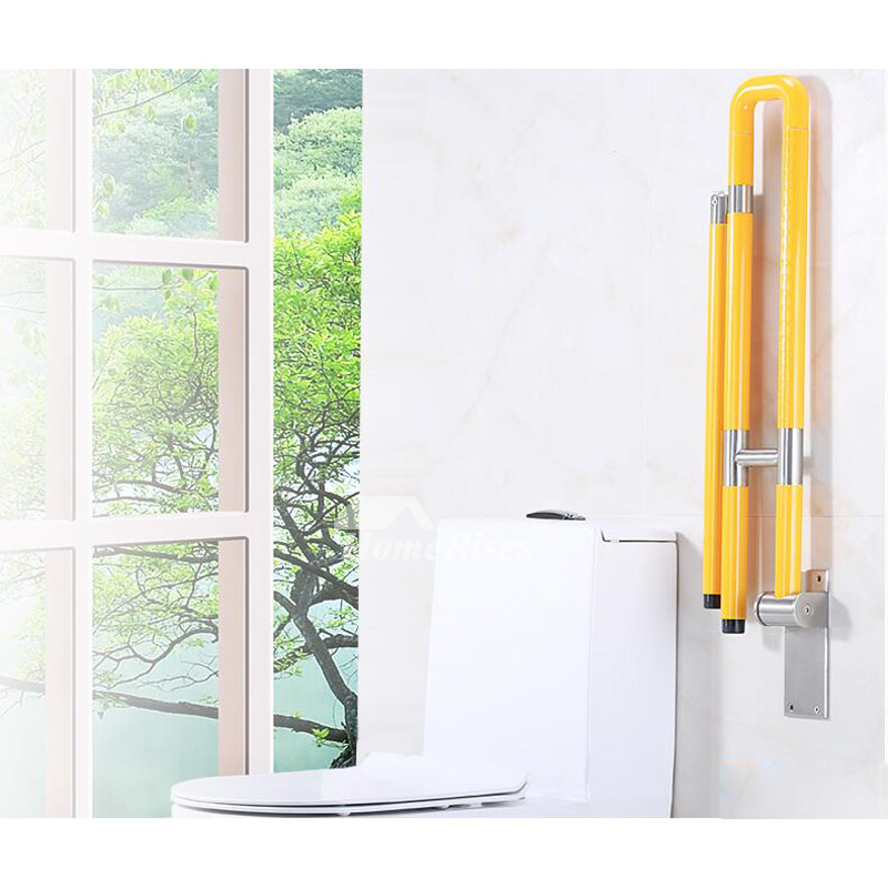 Folding Grab Bar Wall Mount Stainless Steel Bathroom