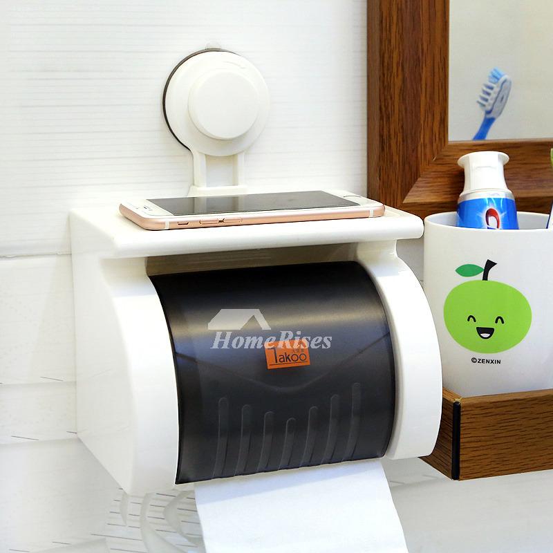 suction toilet paper holder abs plastic white bathroom. Black Bedroom Furniture Sets. Home Design Ideas