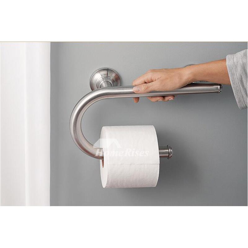 Stainless Steel Grab Bars Bathroom Silver Chrome