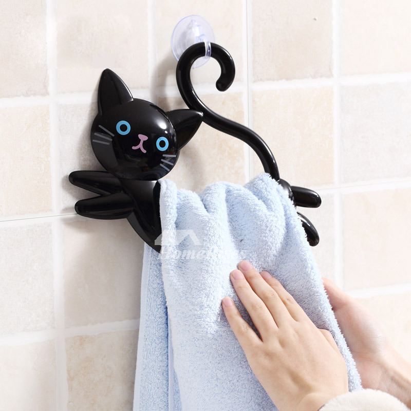 Suction Towel Ring Cat Shaped Abs Plastic