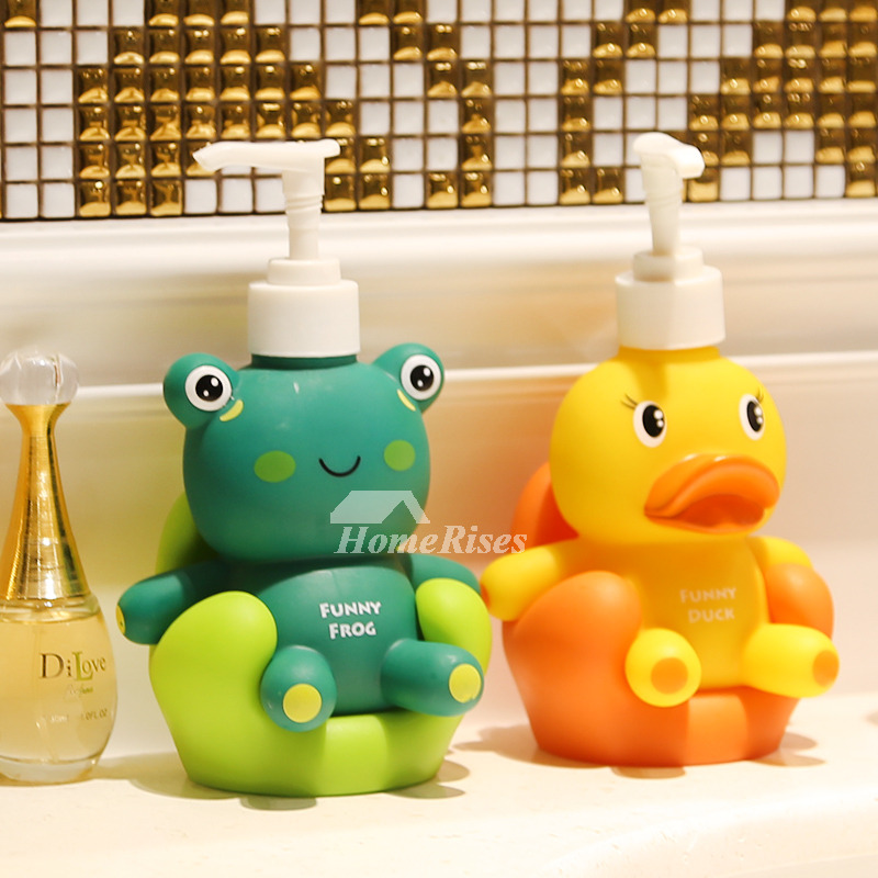 Soap Dispenser Kids Soap Dish Duck Shaped Accessory Set