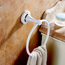 White Towel Ring Wall Mount