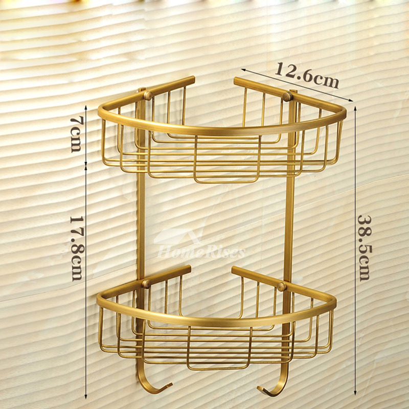 folding gold bathroom accessories sets antique brass wall mount - Gold Bathroom Accessories
