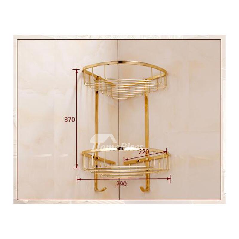 Brass Bathroom Accessories Set Polished Ceramic