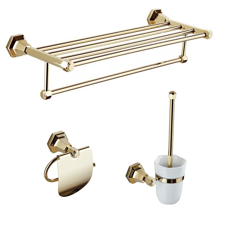 Good polished brass gold bathroom accessories sets bathroom for Good bathroom accessories