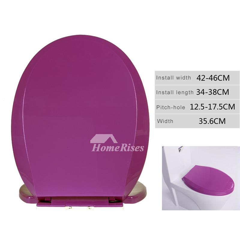 Elongated Toilet Seat Purple Thicken Pp Cushion Purple