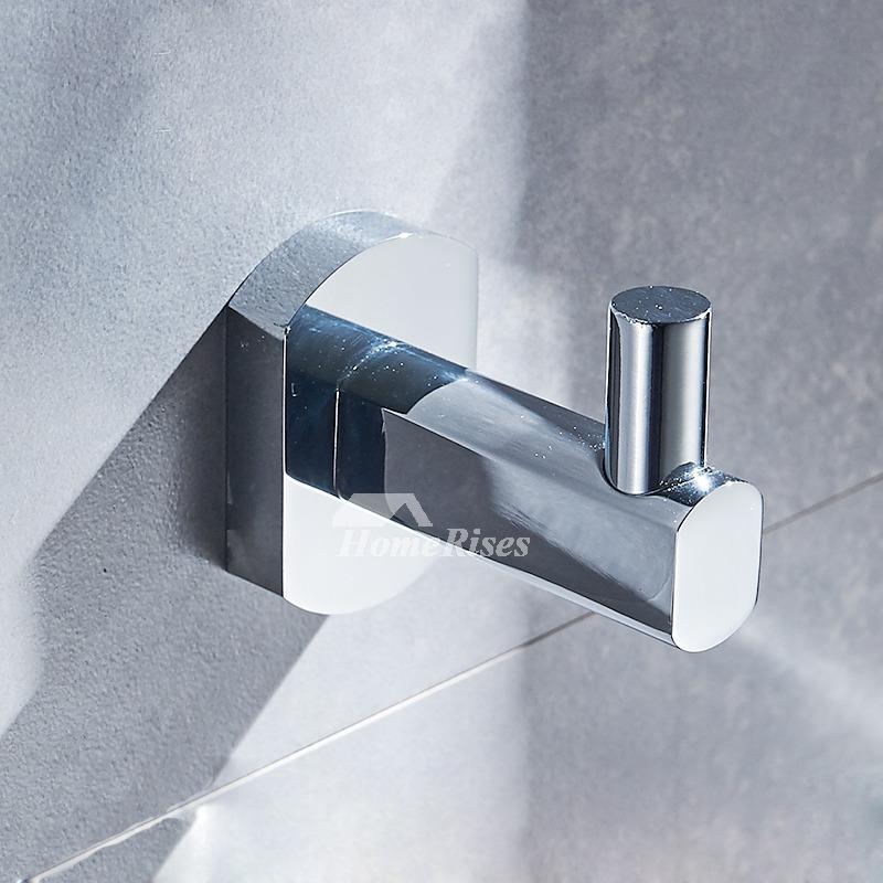 Cheap Brass Robe Hooks Chrome Wall Mount Bathroom