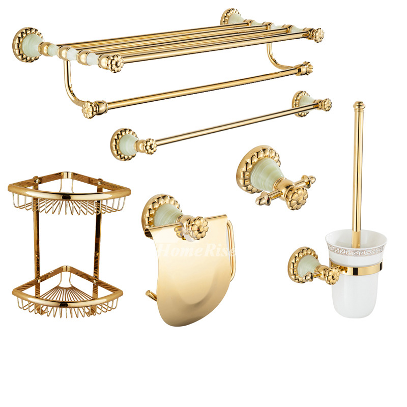 polished brass bathroom accessories set wall mount bathroom