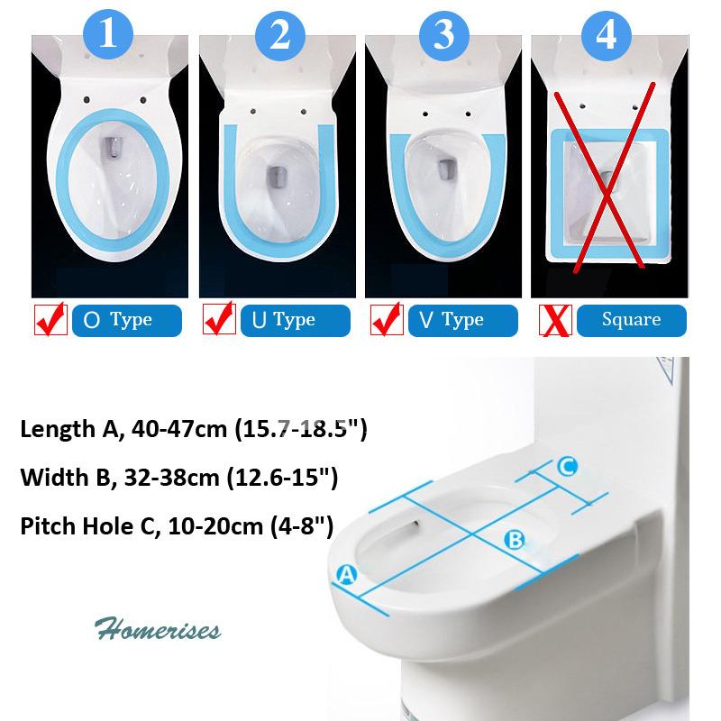 Blue Elongated Toilet Seat Seashell Resin Cushion Bathroom