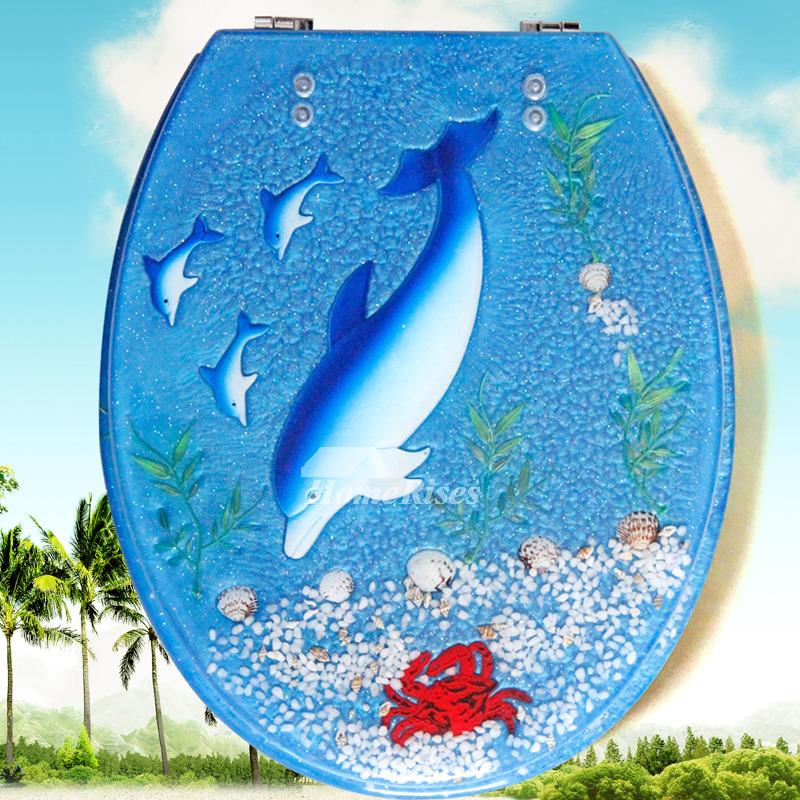 sea shell toilet seat. Seashell Toilet Seat Resin O Type Bathroom Blue