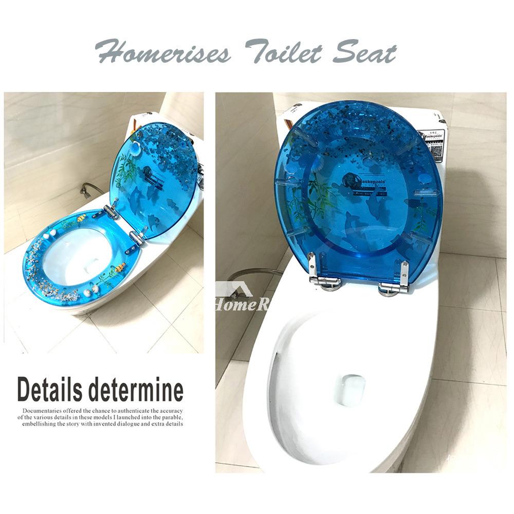 Incredible Seashell Toilet Seat Resin O Type Bathroom Blue Lamtechconsult Wood Chair Design Ideas Lamtechconsultcom