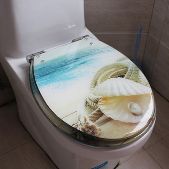 turquoise toilet seat cover. Seashell Toilet Seat Blue O Type Cushion Resin Colored Striped Green Gray Yellow Covers