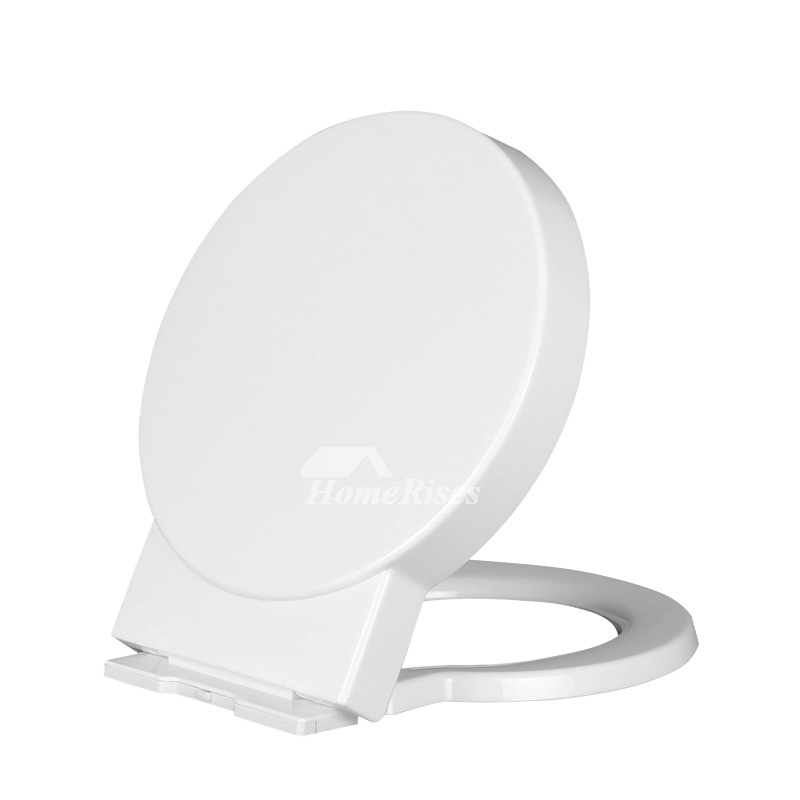 Designer O Type Round Toilet Seat White Pp Cushion