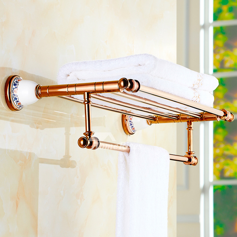 Luxury Bathroom Accessories Set Rose Gold Wall Mount