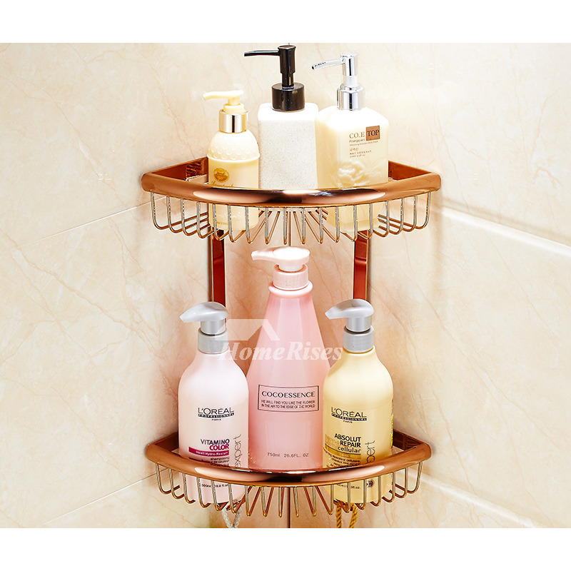 Luxury bathroom accessories set rose gold wall mount for Rose gold bathroom accessories sets