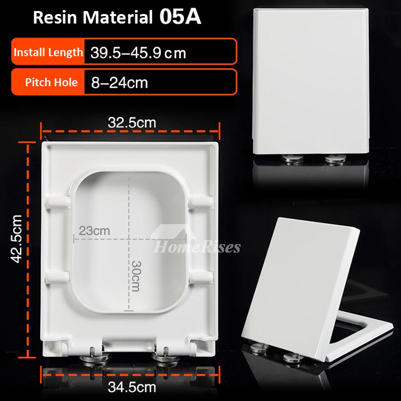 White Comfortable Best Designer Square Soft Close Resin