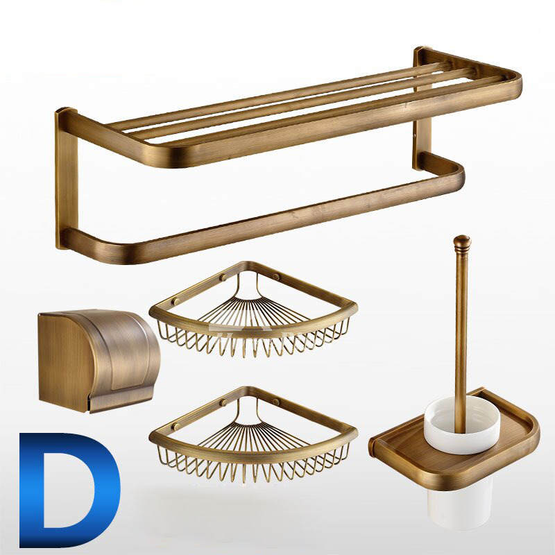 Quality antique brushed brass bathroom accessories set for Quality bathroom fittings