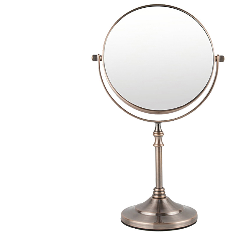 Free Standing 3x Magnifying Makeup Mirror Round Shaped
