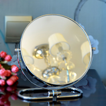Folding Makeup Mirror Standing 3X Double Sided Round